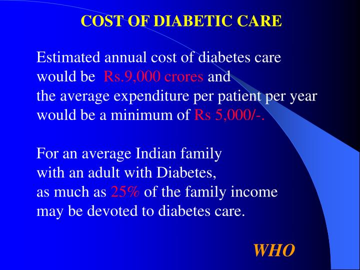 COST OF DIABETIC CARE
