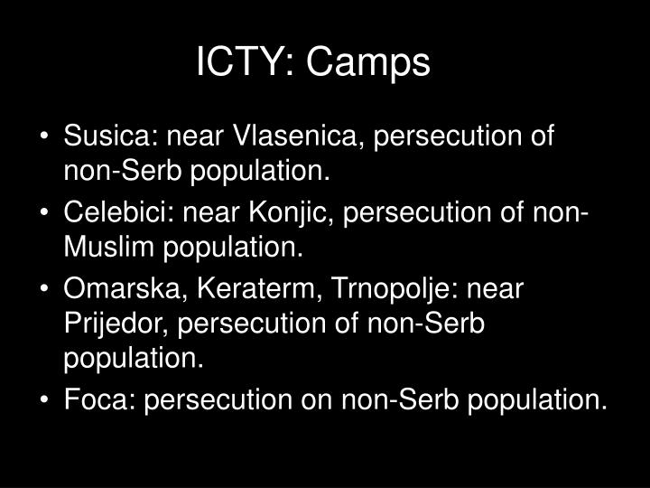 ICTY: Camps