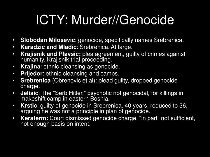 ICTY: Murder//Genocide