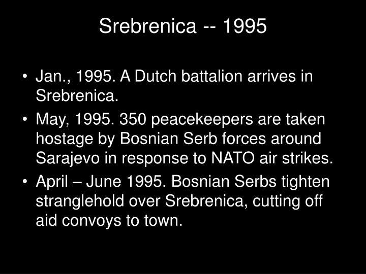 Srebrenica -- 1995