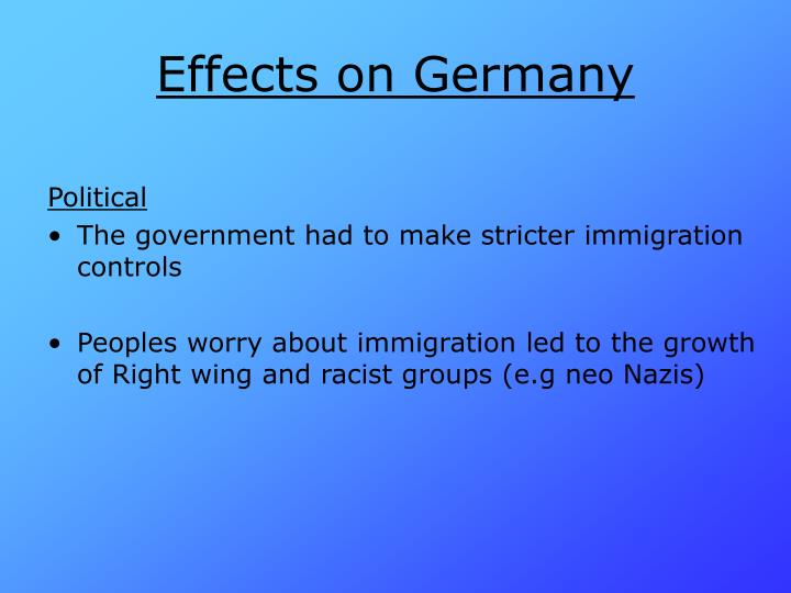 Effects on Germany