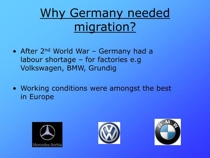Why germany needed migration