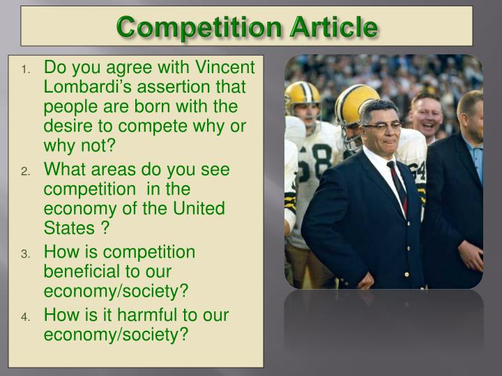 Do you agree with Vincent Lombardi's assertion