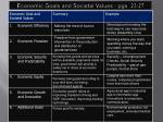 economic goals and societal values pgs 23 27