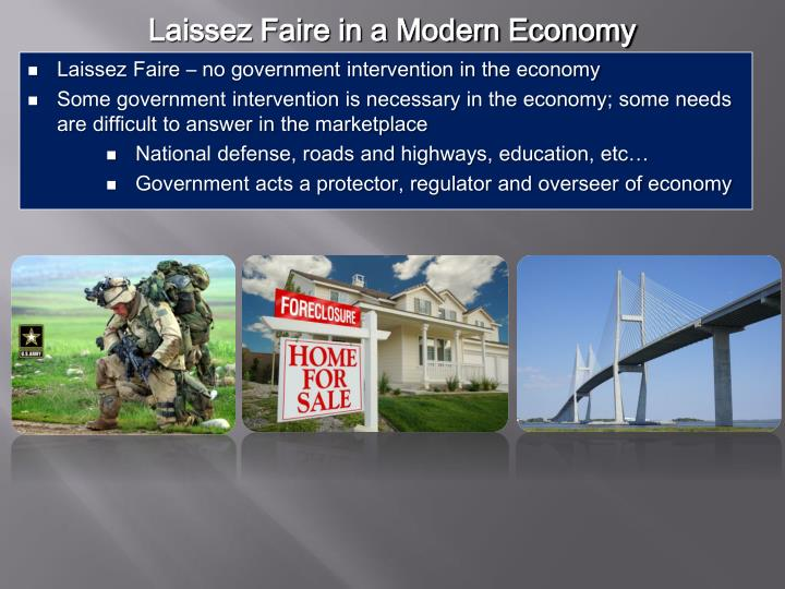 Laissez Faire in a Modern Economy