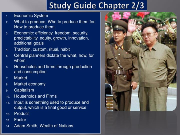 Study Guide Chapter 2/3