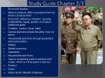 study guide chapter 2 3
