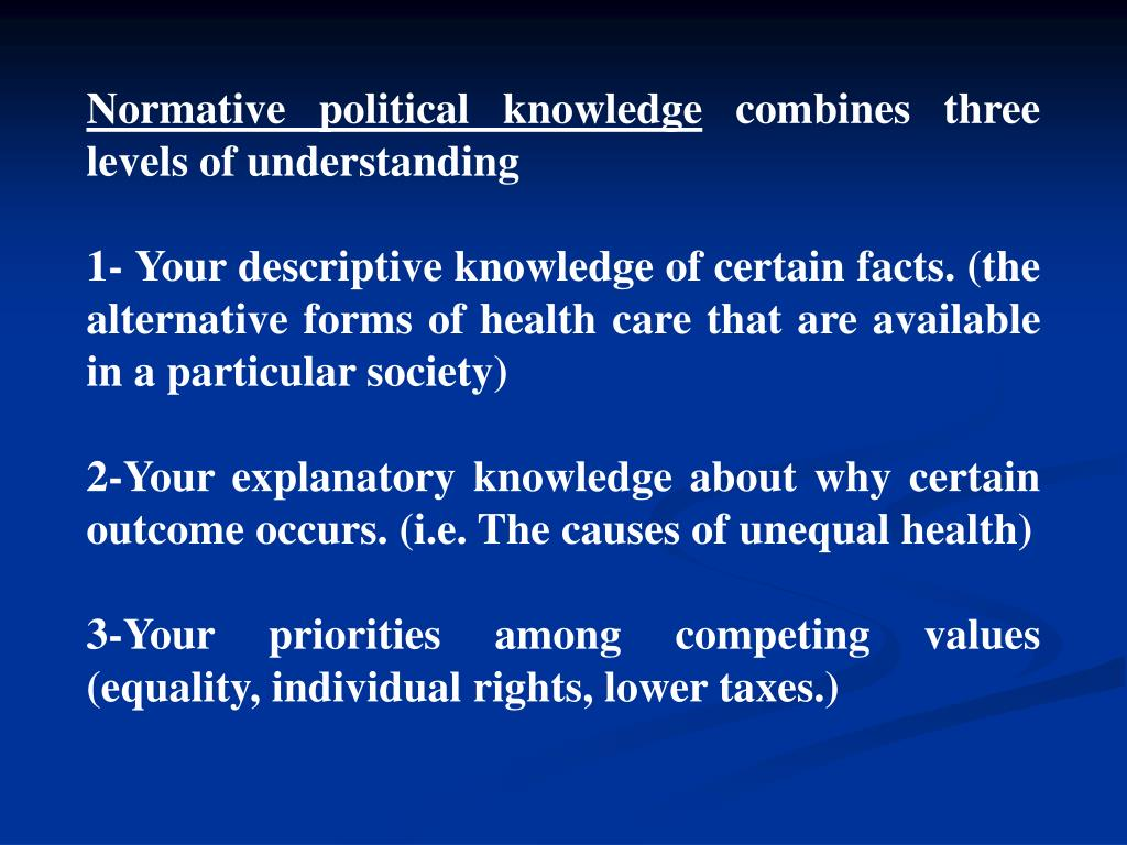 Normative political knowledge