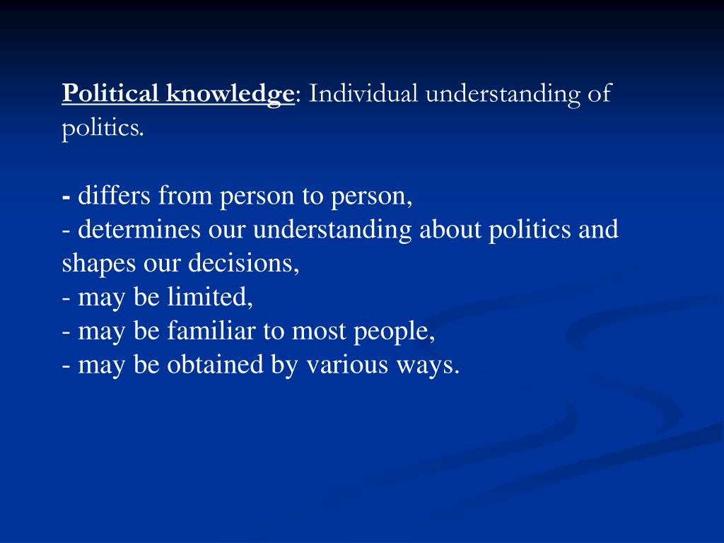 Political knowledge