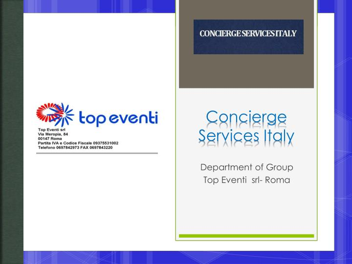 Concierge services italy