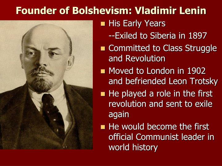 Founder of Bolshevism: Vladimir Lenin