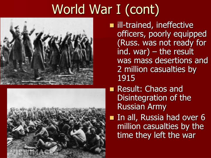 World War I (cont)
