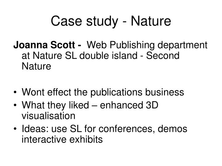 Case study - Nature