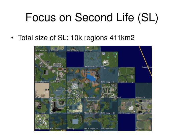 Focus on Second Life (SL)