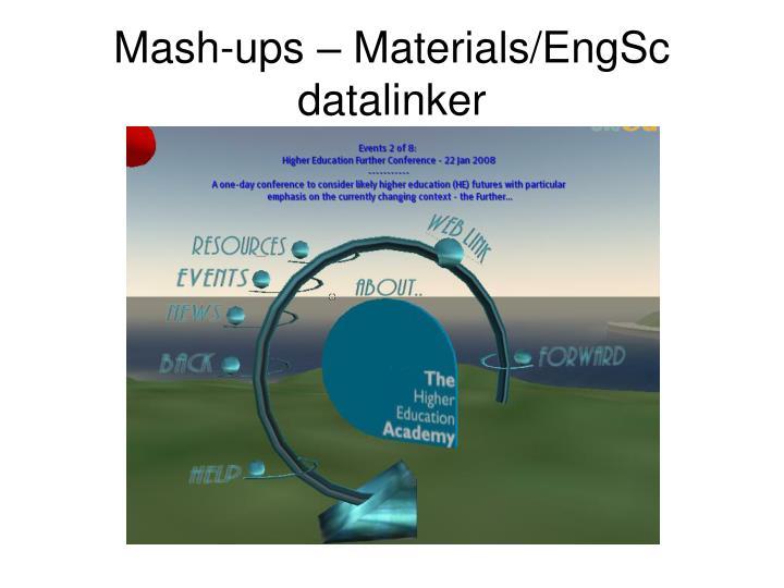 Mash-ups – Materials/EngSc datalinker