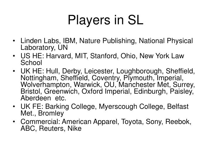 Players in SL