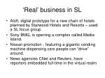 real business in sl