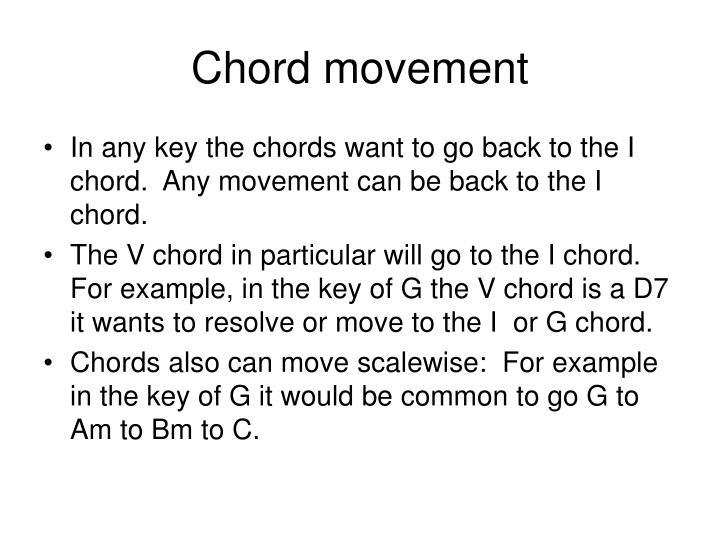 Chord movement