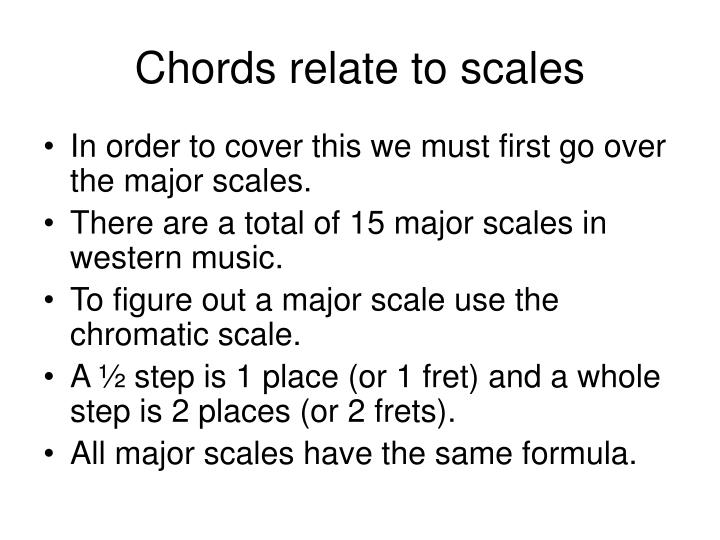 Chords relate to scales