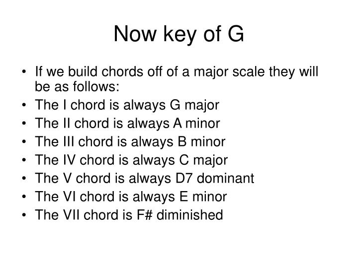 Now key of G
