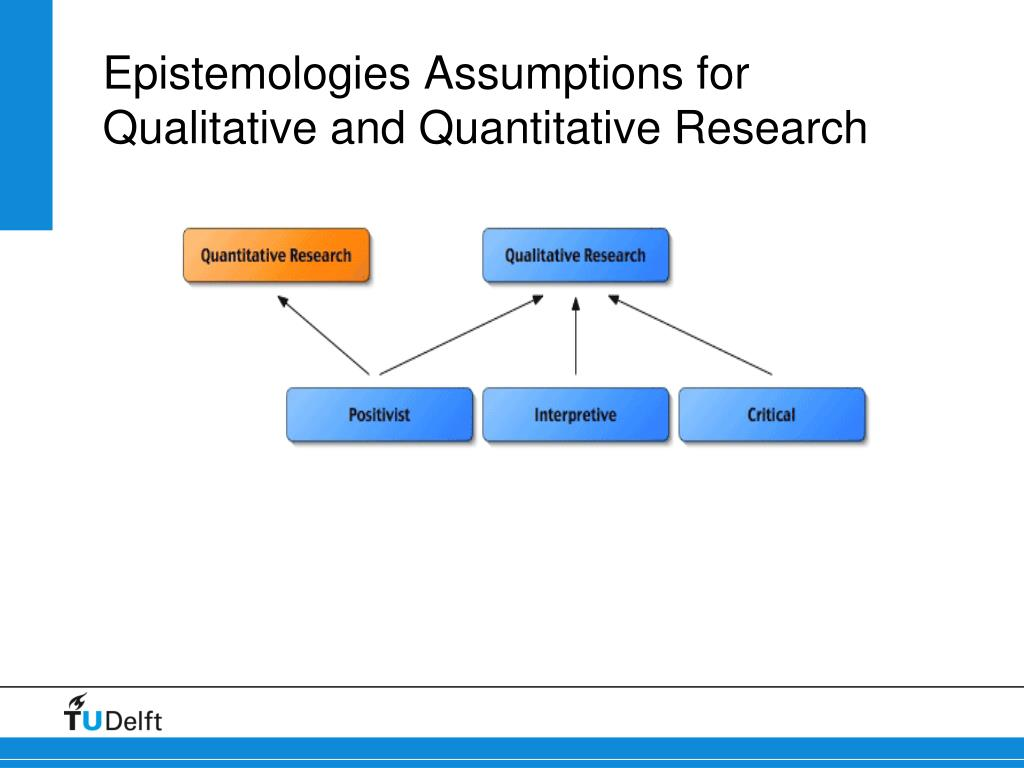 Epistemologies Assumptions for Qualitative and Quantitative Research