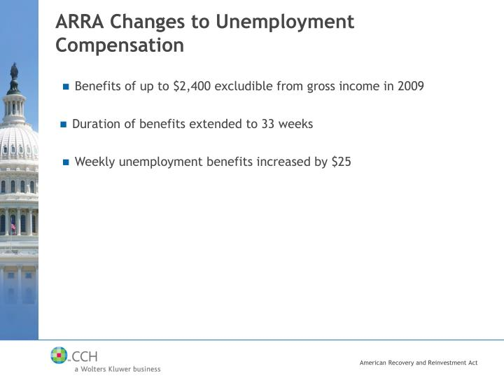 ARRA Changes to Unemployment Compensation