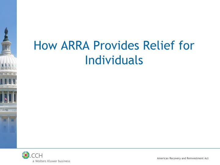 How ARRA Provides Relief for Individuals