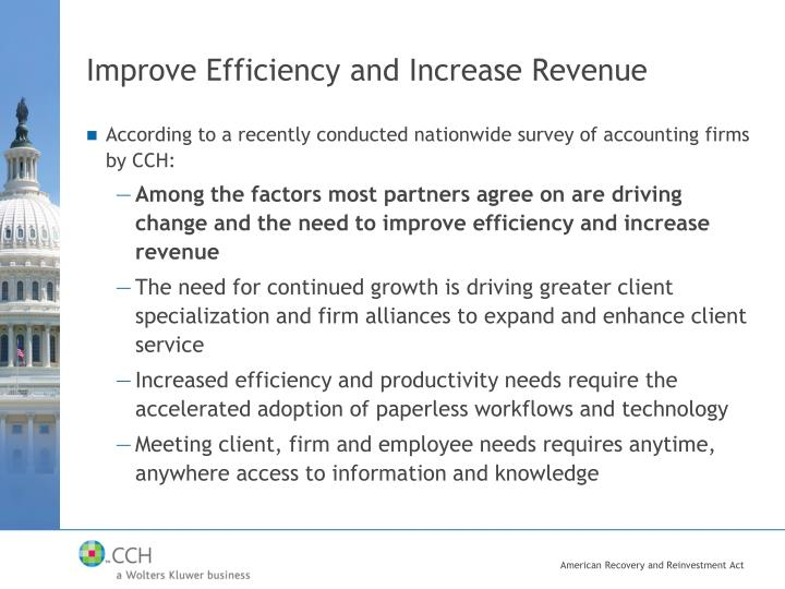 Improve Efficiency and Increase Revenue