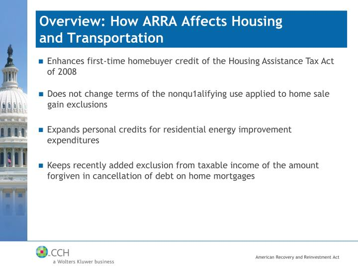 Overview: How ARRA Affects Housing