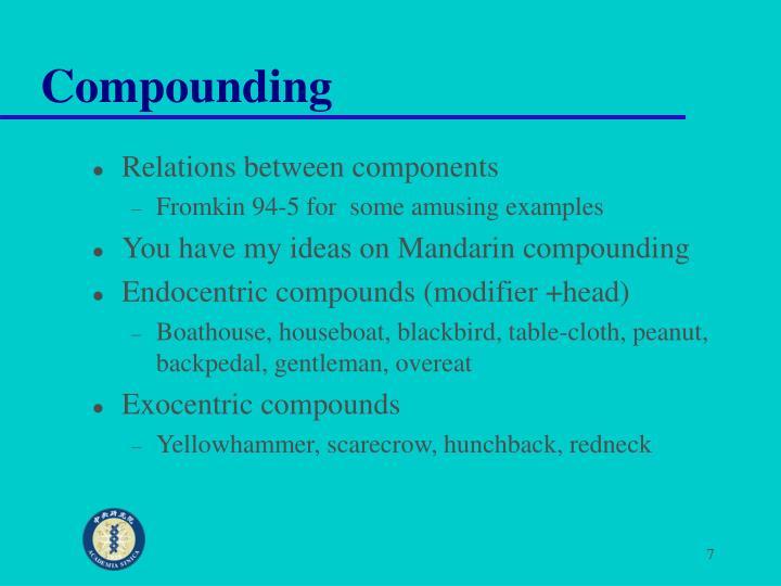 Compounding