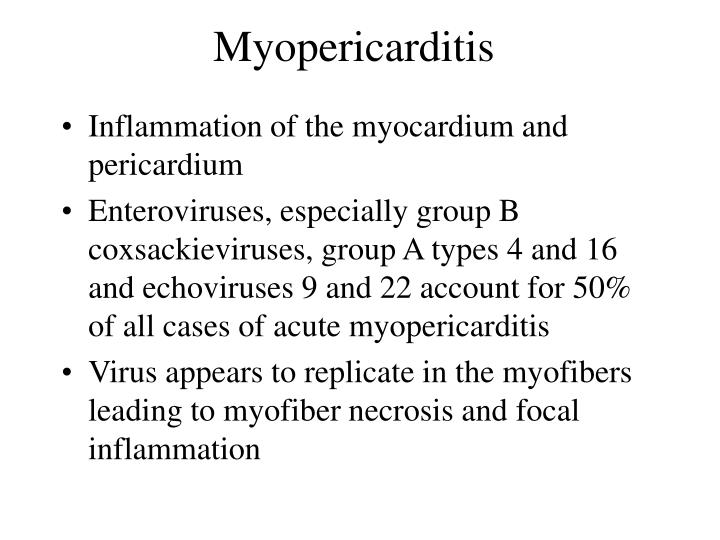 Myopericarditis
