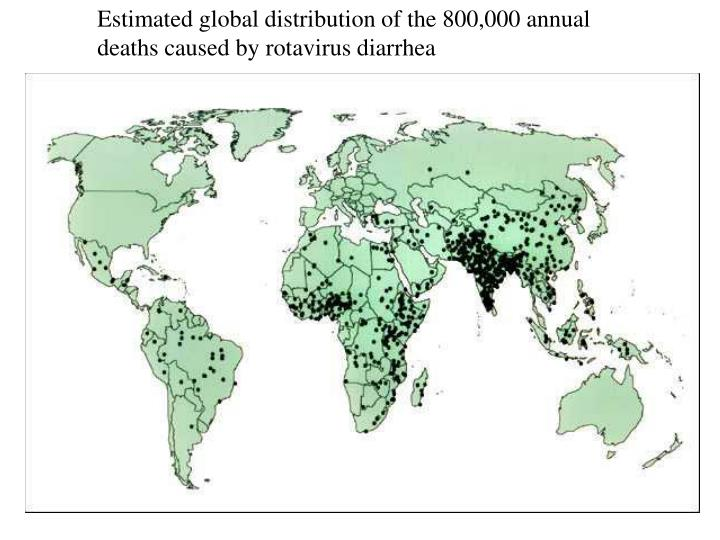 Estimated global distribution of the 800,000 annual deaths caused by rotavirus diarrhea