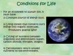 conditions for life