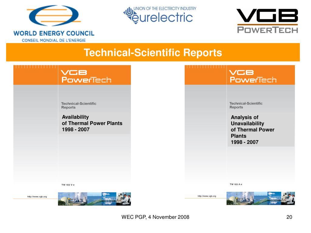 Technical-Scientific Reports