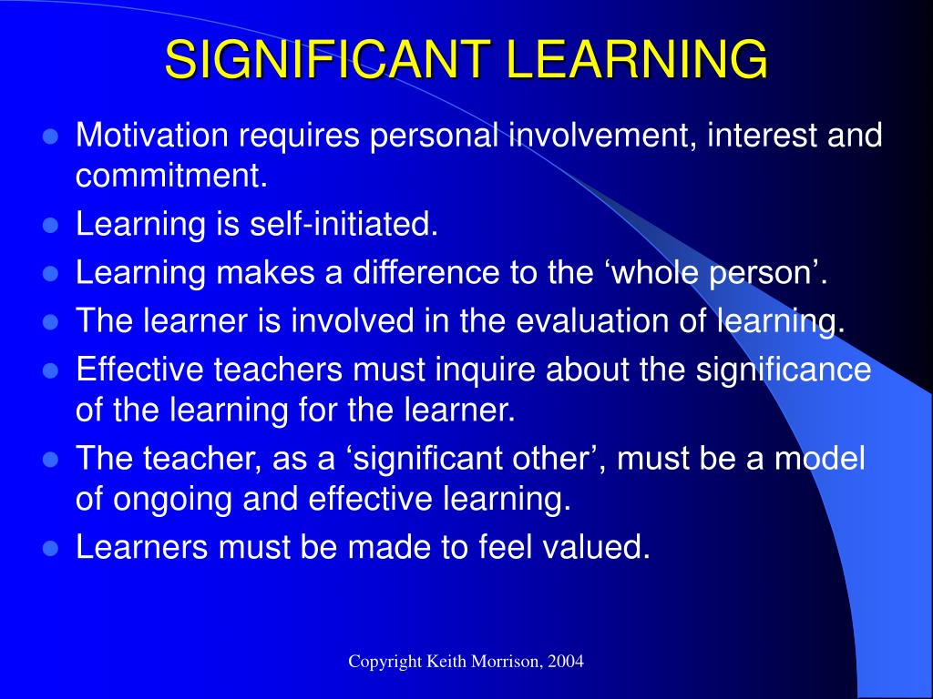 SIGNIFICANT LEARNING