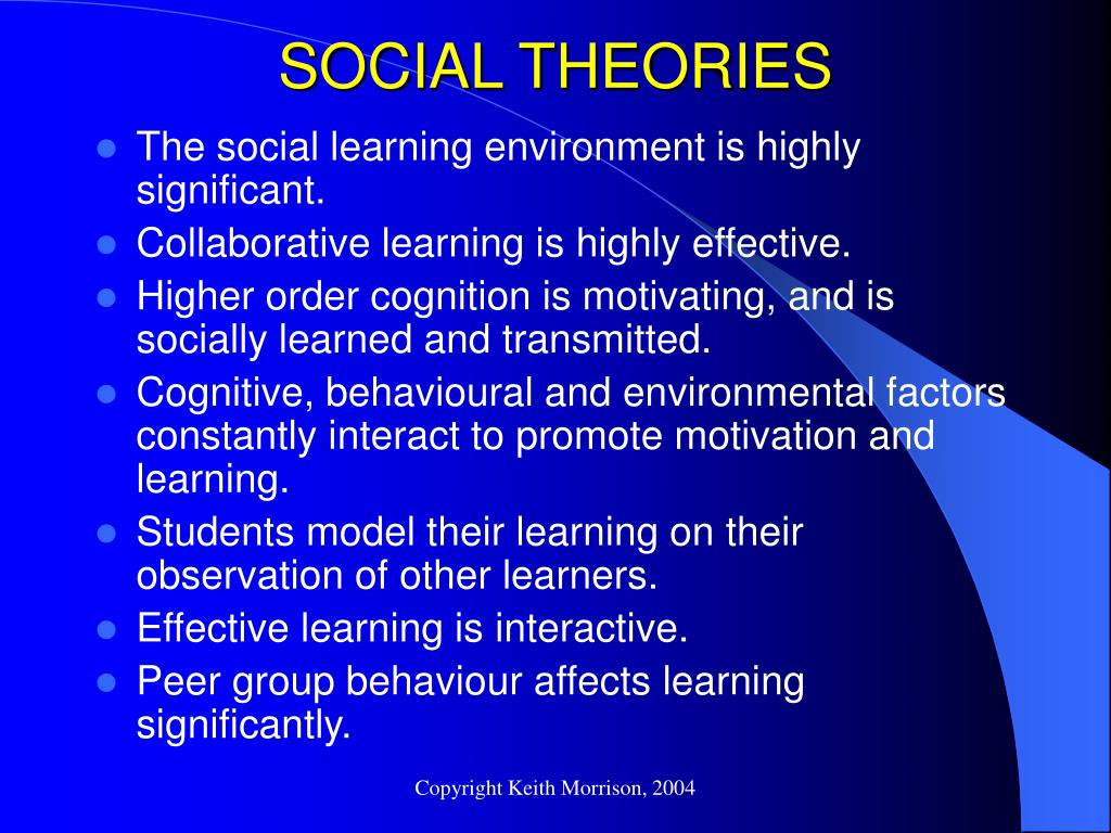 SOCIAL THEORIES