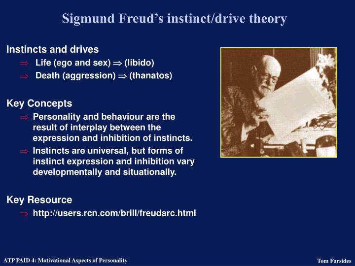 Sigmund Freud's instinct/drive theory