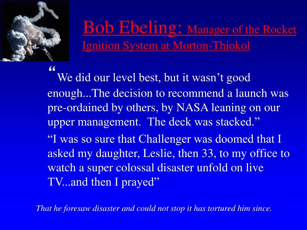 Bob Ebeling: