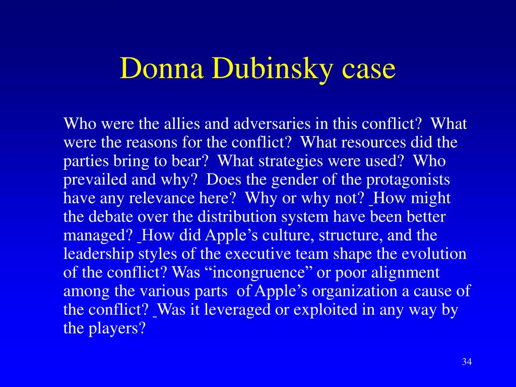 Donna Dubinsky case