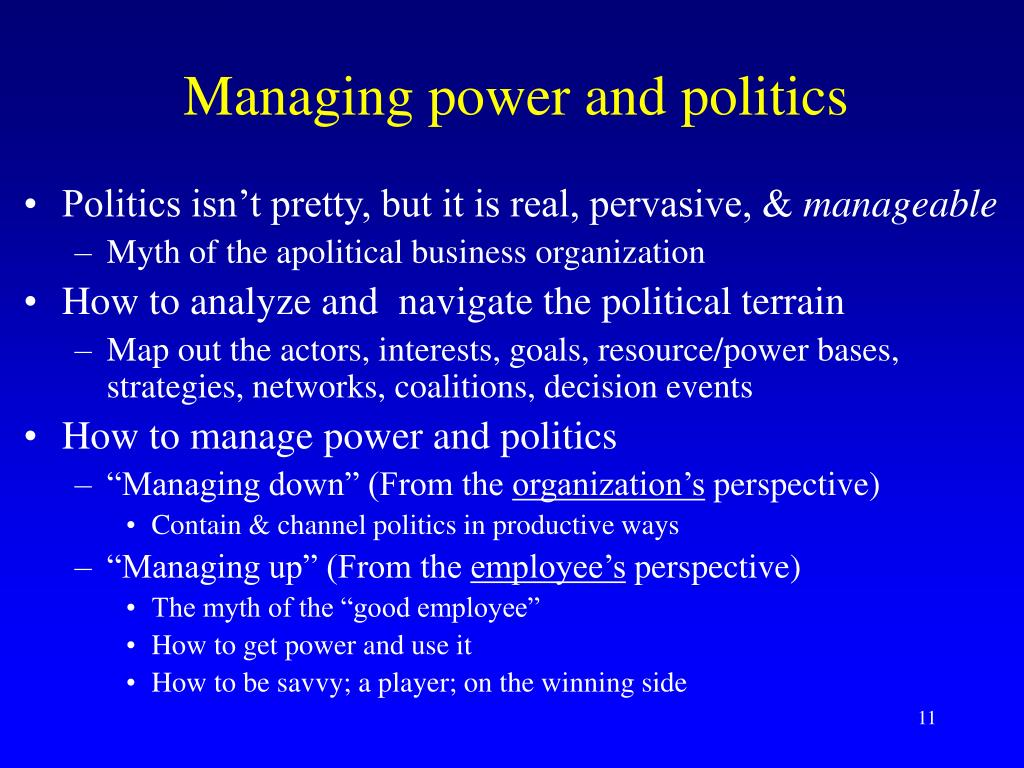 Managing power and politics