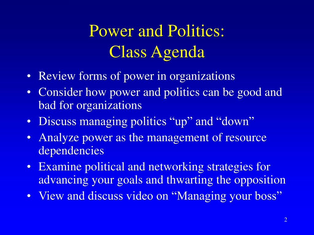 Power and Politics: