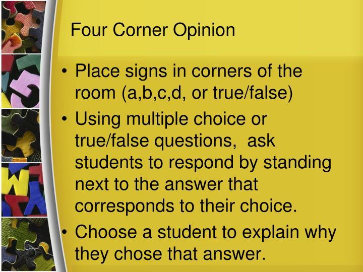Four Corner Opinion