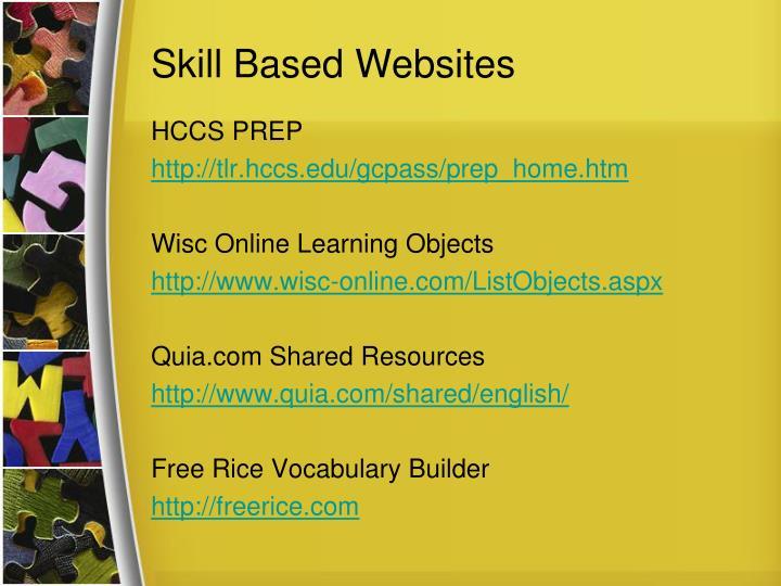 Skill Based Websites