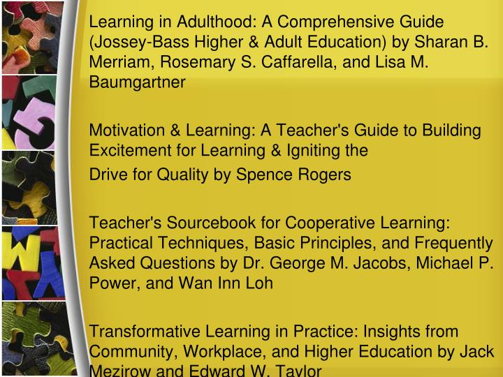 Learning in Adulthood: A Comprehensive Guide (