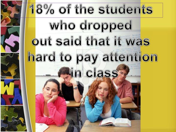 18% of the students