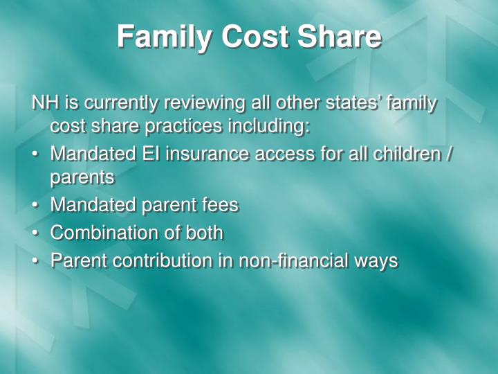 Family Cost Share
