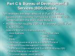 part c bureau of developmental services bds dollars