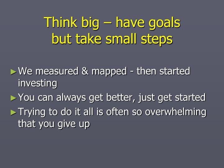 Think big – have goals