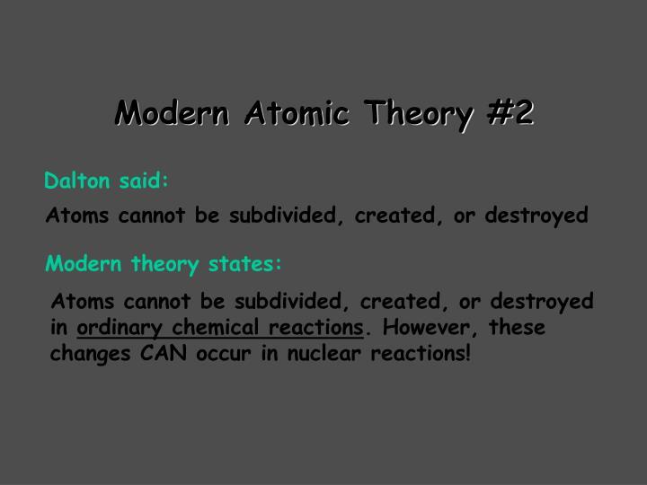 Modern Atomic Theory #2