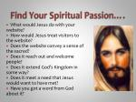 find your spiritual passion
